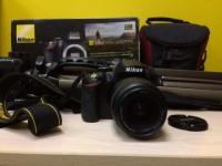 Фотоаппарат Nikon D3200 в коробке(з/у,сумка,штатив Continent  TR-A2)№67