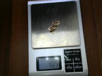 Серьги с синт.вставками Золото 585 (14K) вес 4.05 г