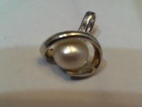 Кулон с жемчугом Серебро 925 вес 2.31 гр.