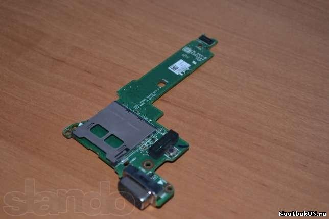 Плата КНОПКА ВКЛЮЧЕНИЯ VGA + карт-ридер для ноутбука ASUS Eee PC 1225 1225c