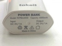 Внешний аккумулятор Takeit 4000 mAh