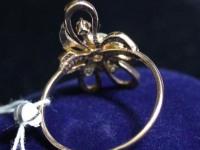 Кольцо  ск (цветок) Золото 585 (14K) вес 3.54 гр.