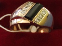 Кольцо бр. 6 шт. кр-57 0,12ct Золото 585 (14K) вес 10.02 г