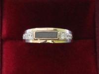 Кольцо с фианитами Золото 375 (9K) вес 2.33 г