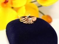 Кольцо с камнями Золото 585 (14K) вес 2.54 гр.
