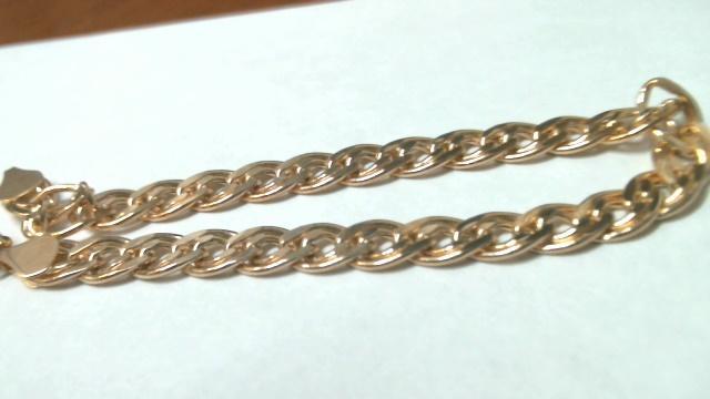 Браслет 19 Золото 585 (14K) вес 5.41 гр.