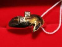 Кольцо бр. 2 шт. п-62 0,1ct Золото 750 (18K) вес 5.76 г