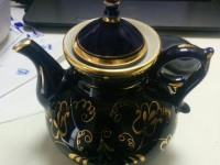 Чайник синий гжель