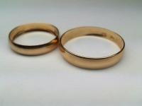 Кольца обруч. 2 шт. Золото 585 (14K) вес 2.55 гр.