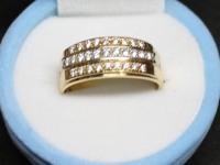 Кольцо бр. 29 шт. кр-57 0,46ct Золото 750 (18K) вес 7.32 гр.