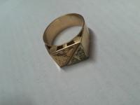 Перстень с брилл Золото 585 (14K) вес 9.30 г