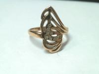 Кольцо с камнями Золото 585 (14K) вес 3.86 гр.