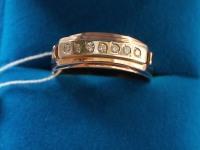 Кольцо  брилл. 0,21 кр Золото 585 (14K) вес 6.16 гр.
