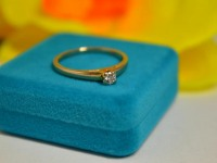 Кольцо с камнем Золото 585 (14K) вес 1.89 г