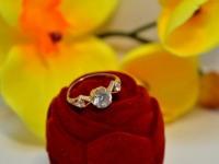 Кольцо с камнями Золото 585 (14K) вес 1.76 гр.