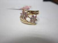 Кольцо с мн.розовых и бел.кам Золото 585 (14K) вес 2.85 гр.