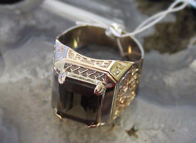 Перстень с камнем Золото 585 (14K) вес 11.43 гр.