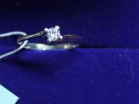 Кольцо бр. 1 шт. кр-57 0,157ct Золото 585 (14K) вес 1.69 г