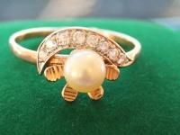 Кольцо  ск. жемчуг Золото 585 (14K) вес 2.43 гр.