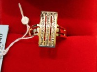 Кольцо 15 бр.кр-17 4/6 0,06ct Золото 585 (14K) вес 3.19 гр.