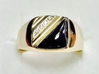 Кольцо печатка Золото 585 (14K) вес 5.94 г