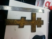 Крест Латунь(С выбоиной)