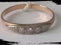 Кольцо Золото 585 (14K) вес 1.68 гр.